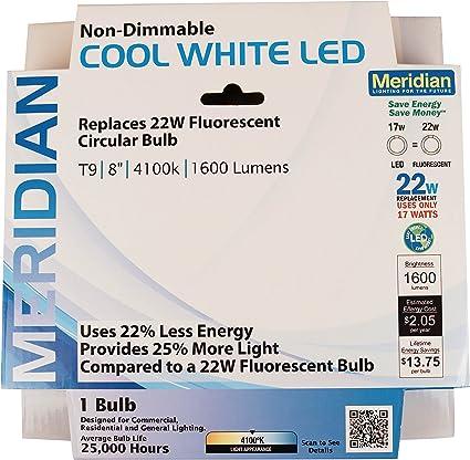 Meridian eléctrico 13144Meridian 22 W led equivalente a bombilla ...