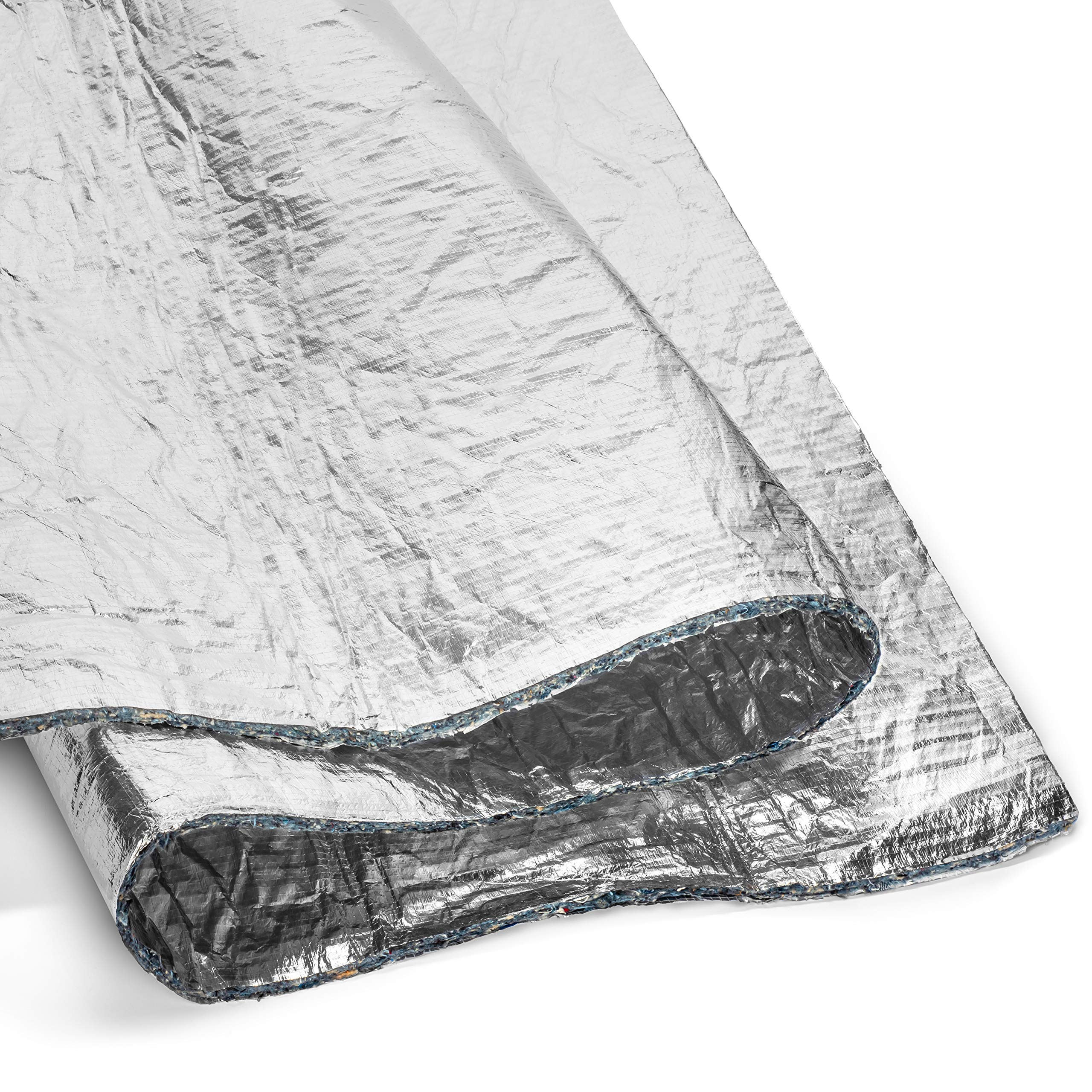 Second Skin Heat Wave Pro - Jute with Aluminized Heat Barrier - High R-Value Headliner and Hood Insulation for Cars (3/8'' Thick, 24 Sq Ft)