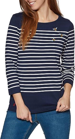 Joules Ladies Long Sleeves Stripes Top Uk14
