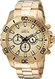 Invicta Men's 'Pro Diver' Quartz and Stainless Steel Casual Watch, Color:Gold-Toned (Model: 22547)