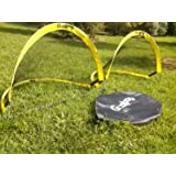 GOALPOP 4FT Set of Two Pop Up Goals for Soccer Training - Portable Soccer Goals Net & Carry Bag. Fold-able, Perfect for Kids, and Easy to Carry. Great Gift, Ideal for Backyard, Beach Playing or Training. Weighing Just a Couple of Pounds.
