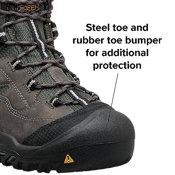 644947e1d3a156 Amazon.com  KEEN Utility - Men s Braddock All Leather Mid Waterproof (Steel  Toe) Work Boots  Shoes