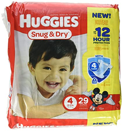 huggies Baby Diapers, Snug & Dry, Size 4 (22-37 lbs)