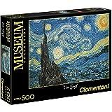 Clementoni - 30314.4 - Puzzle Collection High Quality - 500 Pièces - La Nuit Etoilée Vincent Van Gogh