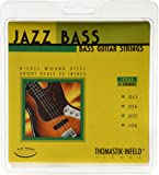 Thomastik-Infeld JF324 Bass Guitar Strings: Jazz Flat Wounds 4-String Short Scale Set; Pure Nickel Flats G, D, A, E Set