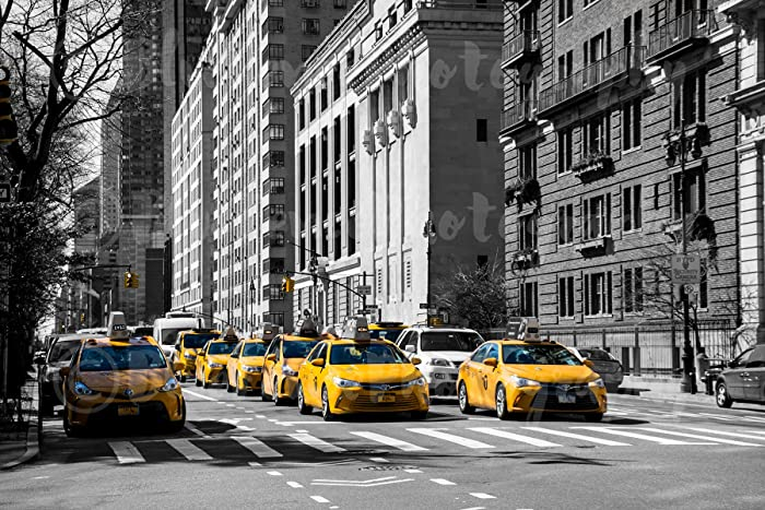 3e3e1f5b5eeb7 Taxi. Yellow Cab Photography, Art Print, Home, Wall Decor, New York City,  Taxi, Black and White, City Streets, Living Room. Sizes Available from 5x7  ...