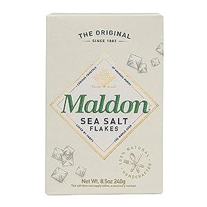 Maldon Salt Company, Sea Salt Flakes, 8.5 Ounce (240 gram box)