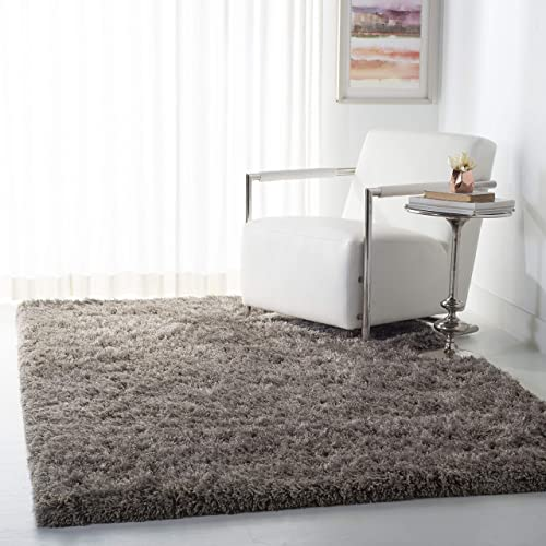 Safavieh Atlantic Shag Collection ATG101F Handmade Solid 1.2-inch Thick Area Rug - a good cheap living room rug