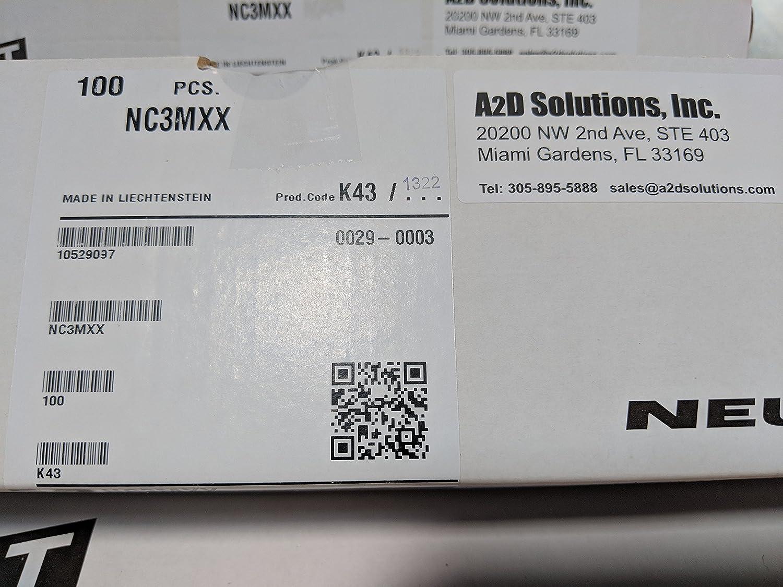 Neutrik NC3MXX 3 Pin Male XLR Box 100 Connectors