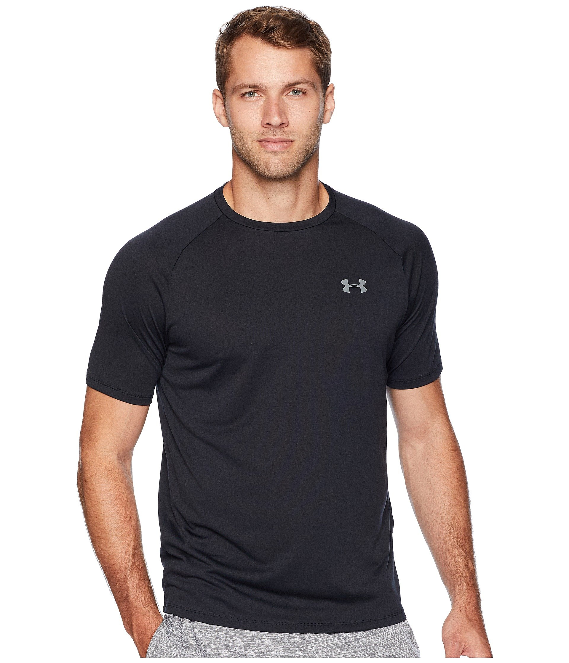 Under Armour Men's UA Tech Short Sleeve Tee Black/Graphite 4XT by Under Armour