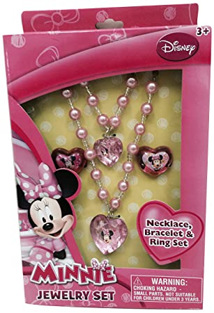 Amazoncom Minnie Mouse Jewelry Box Set 1 Toys Games