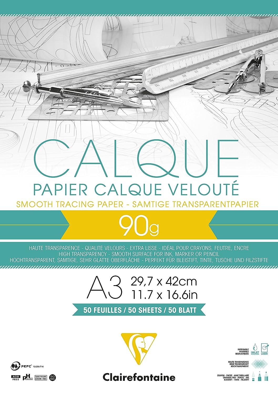 Clairefontaine 97134c Transparentpapier Block Din A3 297 X 42 Cm