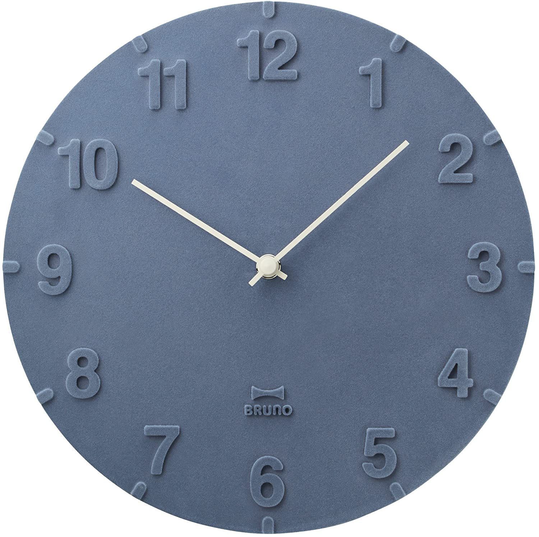 BRUNO フロッキーウォールクロック 掛け時計 掛時計 壁掛け時計 壁掛時計 おしゃれ ブルーノ イデアインターナショナル (ネイビー) B076D7K9MP ネイビー ネイビー