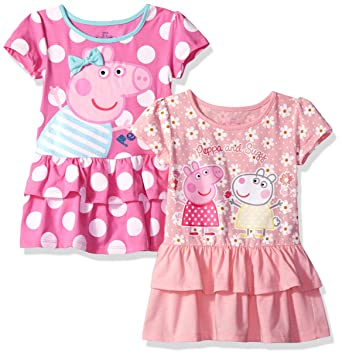 bee6a74b2 Amazon.com: Peppa Pig Girls' Toddler 2 Pack Dresses: Clothing