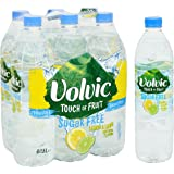 Volvic Touch of Fruit Sugar Free Lemon and Lime Flavoured Water Bottles, 6 x 1.5 Litre