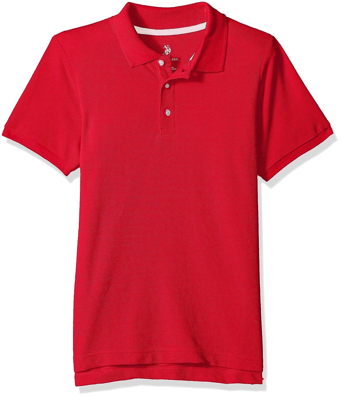 Boys New Short Sleeve Pique Polo Shirt in Husky Sizes 7520 Polo Assn U.S
