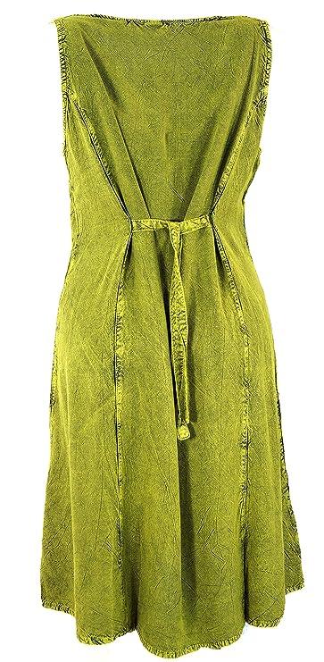 GURU-SHOP, Vestido de Verano Boho Bordado, Vestido Midi, Vestido ...