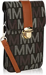 MKF Small Crossbody Cell Phone Wallets for Women - Purse with Shoulder Strap - Vegan Leather