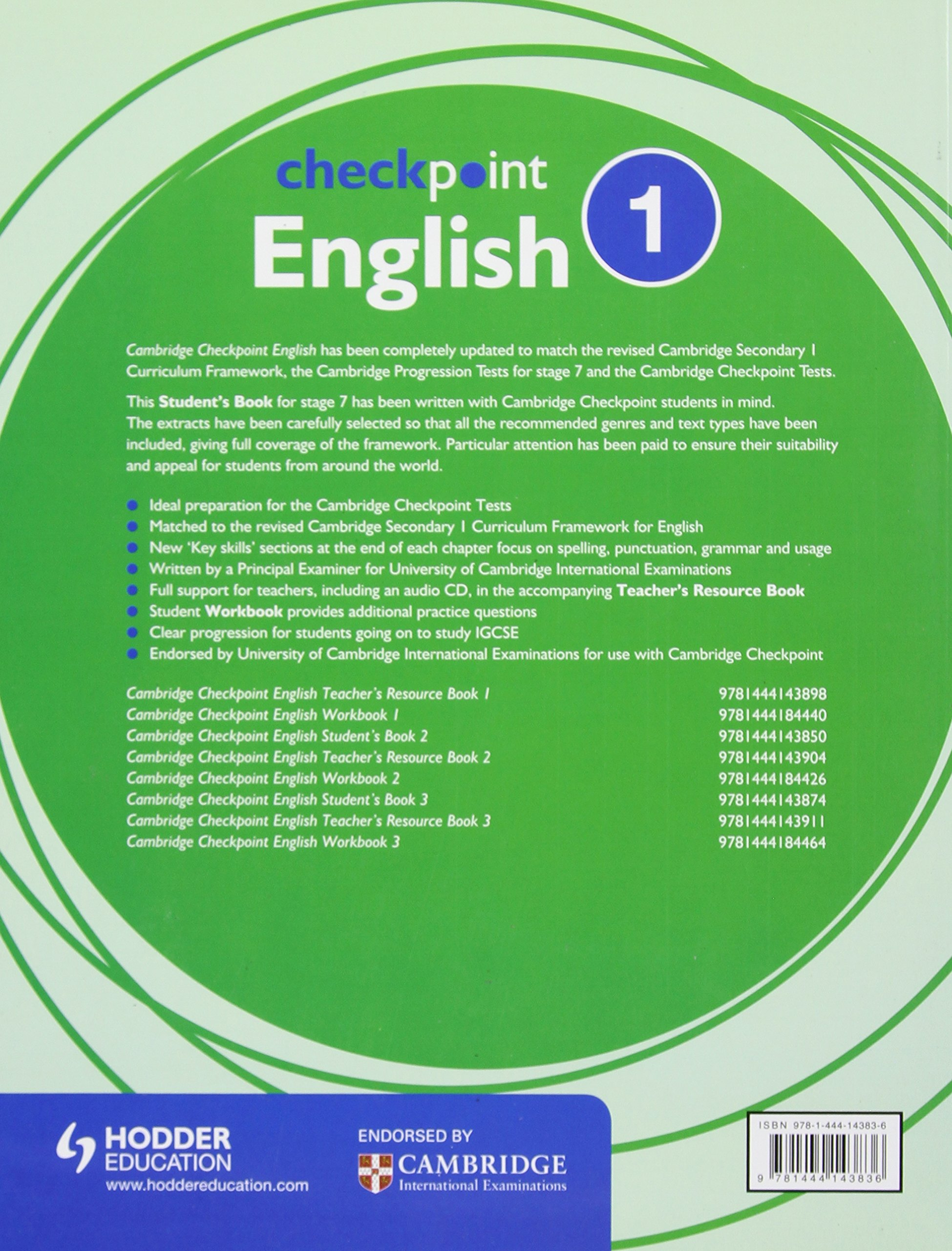 buy cambridge checkpoint english student s book 1 book online at low