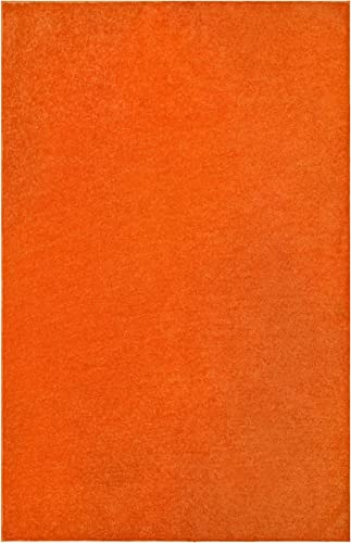 Home Cool Solid Colors Wind Dancer Collection Area Rugs Orange – 2 x3 with Non Slip Backing