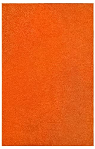 Ambiant Saturn Collection Pet Friendly Area Rug Orange – 3 x5 with Non Slip Backing