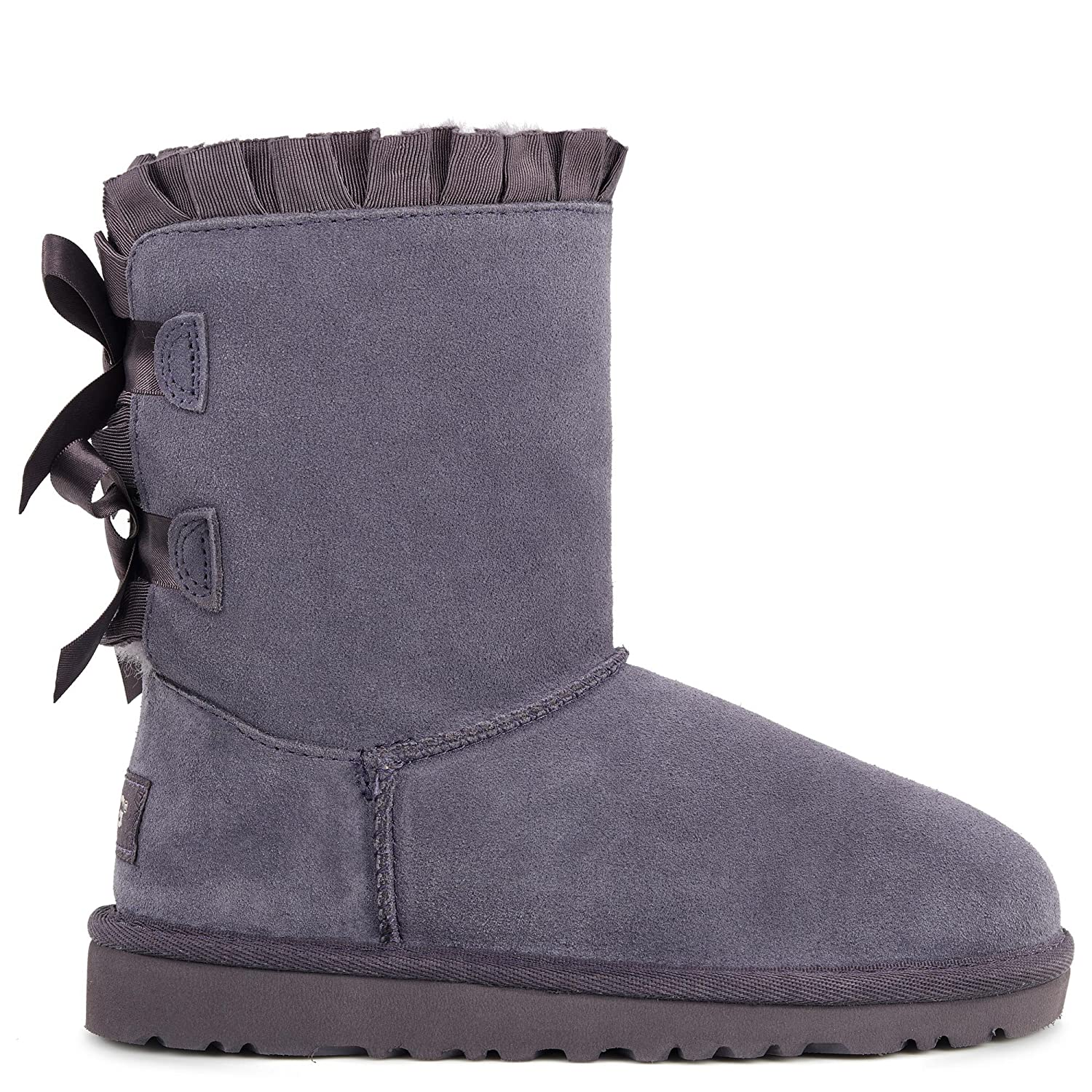 UGG Kids Girls' Bailey Bow Ruffles (Little Kid), Nightfall, 9 Toddler M: Amazon.co.uk: Shoes & Bags