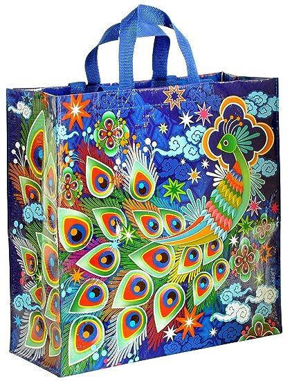 7bec146c5b6 Amazon.com: Blue Q Peacock Shopper: Reusable Grocery Bags: Kitchen & Dining