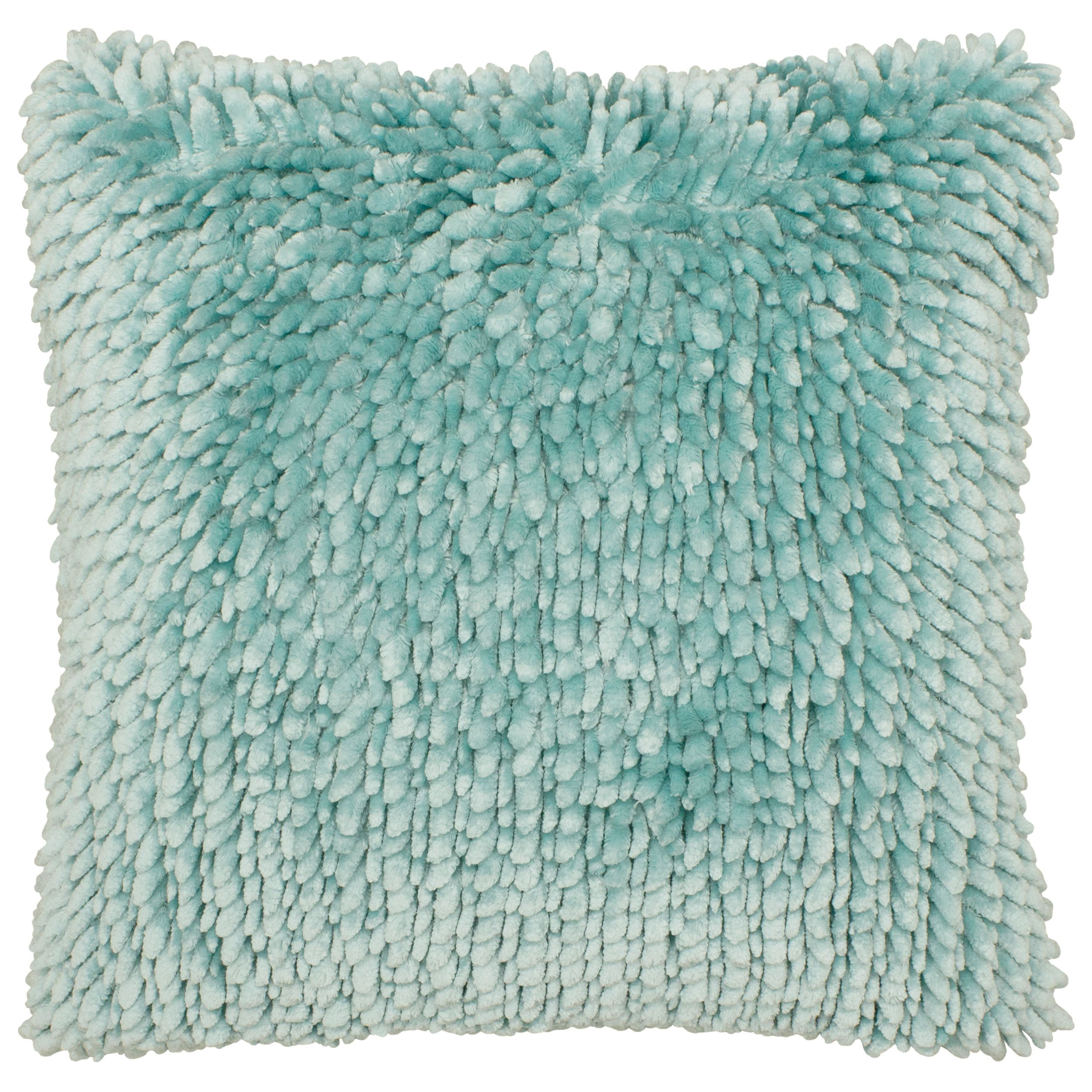 Dolce Home Butter Chenille Decorative Pillow, 18 in. x 18 in, Aqua
