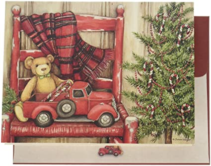 lang bear in chair boxed christmas cards artwork by susan