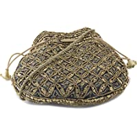 Funkia™ Ethnic, Designer Potli style clutch with sequins & bead work goes with both ethnic or indo western - 3 colors