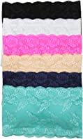 Tobeinstyle Women'S Pack Of 6 Seamless Bandean with Lace - One Size