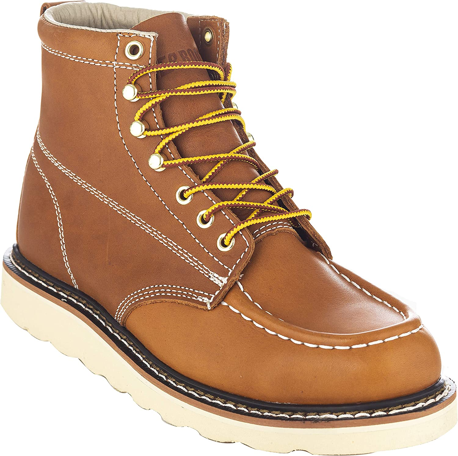 "EVER BOOTS ""Weldor Men's Moc Toe Construction Work Boots Wedge Soft Toe Light Weight"