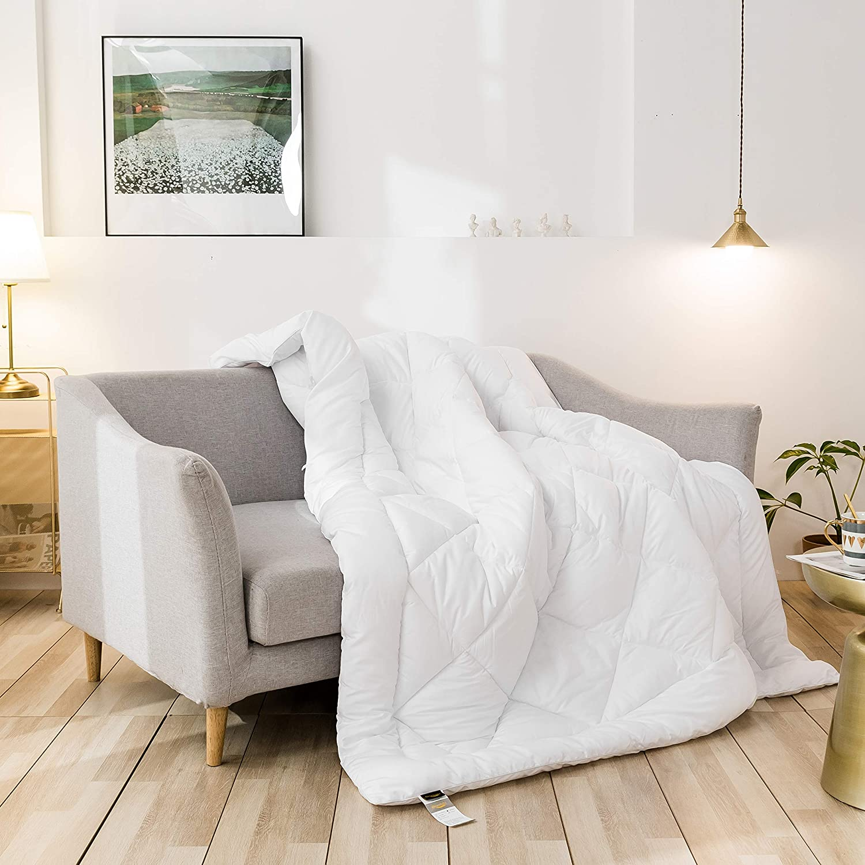 CozynightDown Alternative Comforter-All Season FullComforterDuvet Insert with Corner Tabs-Hypoallergenic& Breathable-DiamondStitchedReversibleWhiteComforter