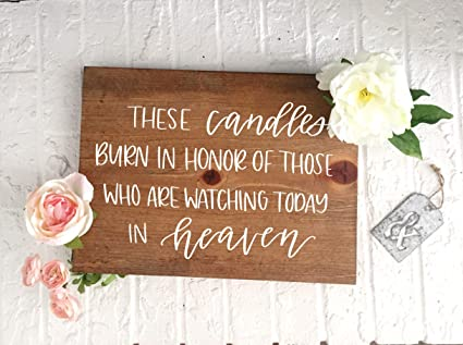 Amazon com: Boyce22Par These Candles Burn in Honor Watching