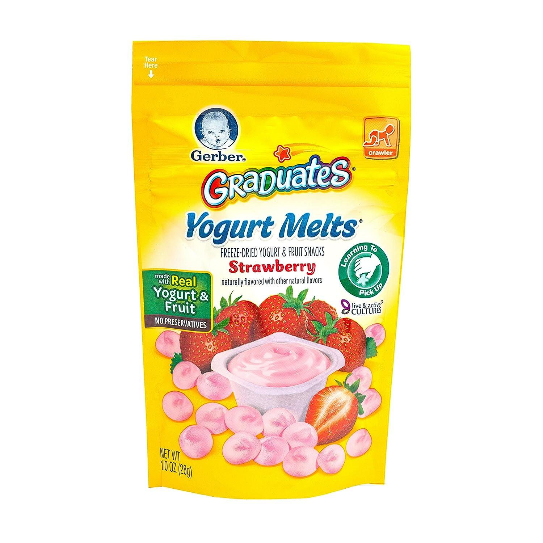 Gerber, Graduates, Yogurt Melts, Strawberry, 1 oz (28 g)