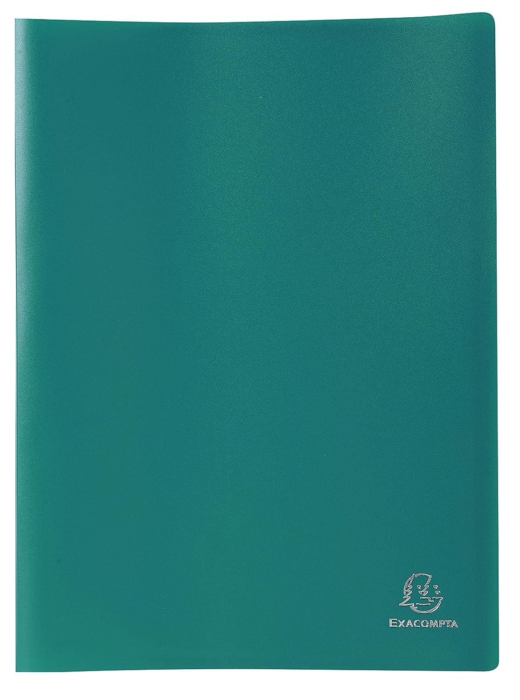 color verde Exacompta 8523E Carpeta de 20 fundas PVC A4
