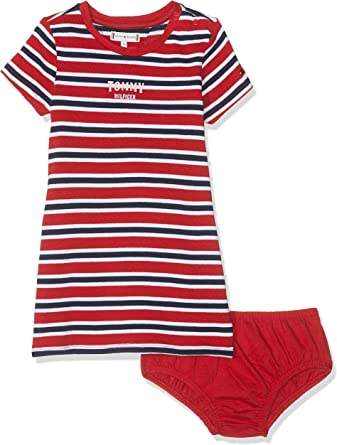 Tommy Hilfiger Multi Stripe Knit Dress S//S Vestido para Beb/és