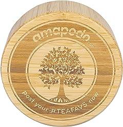 amapodo Coperchio di bambù come sostituzione per la bottiglia di tè Tea maker Bevanda Teiera Thermo Coppe Infusore mug di vetro