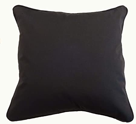 Saffron Black Cotton Cushion Cover Pillow Case Cord Piping 40X40 Awesome 28x28 Pillow Cover