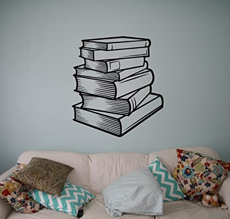Amazoncom Books School Wall Vinyl Decal Library Education Wall - Custom vinyl wall decals for classrooms