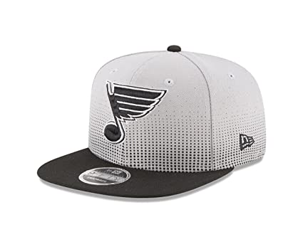 NHL St Louis Blues Flow Team Snap Black 9Fifty Cap One Size Gray