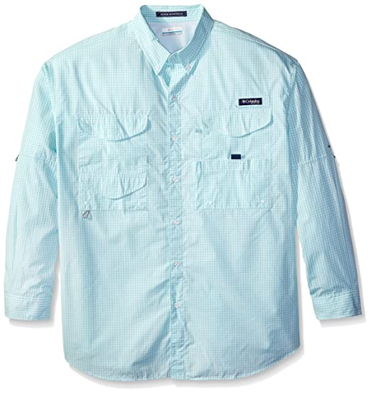 af866e65a81 Columbia Men's Super Bonehead Classic Long Sleeve Shirt, Gulf Stream  Gingham, Large