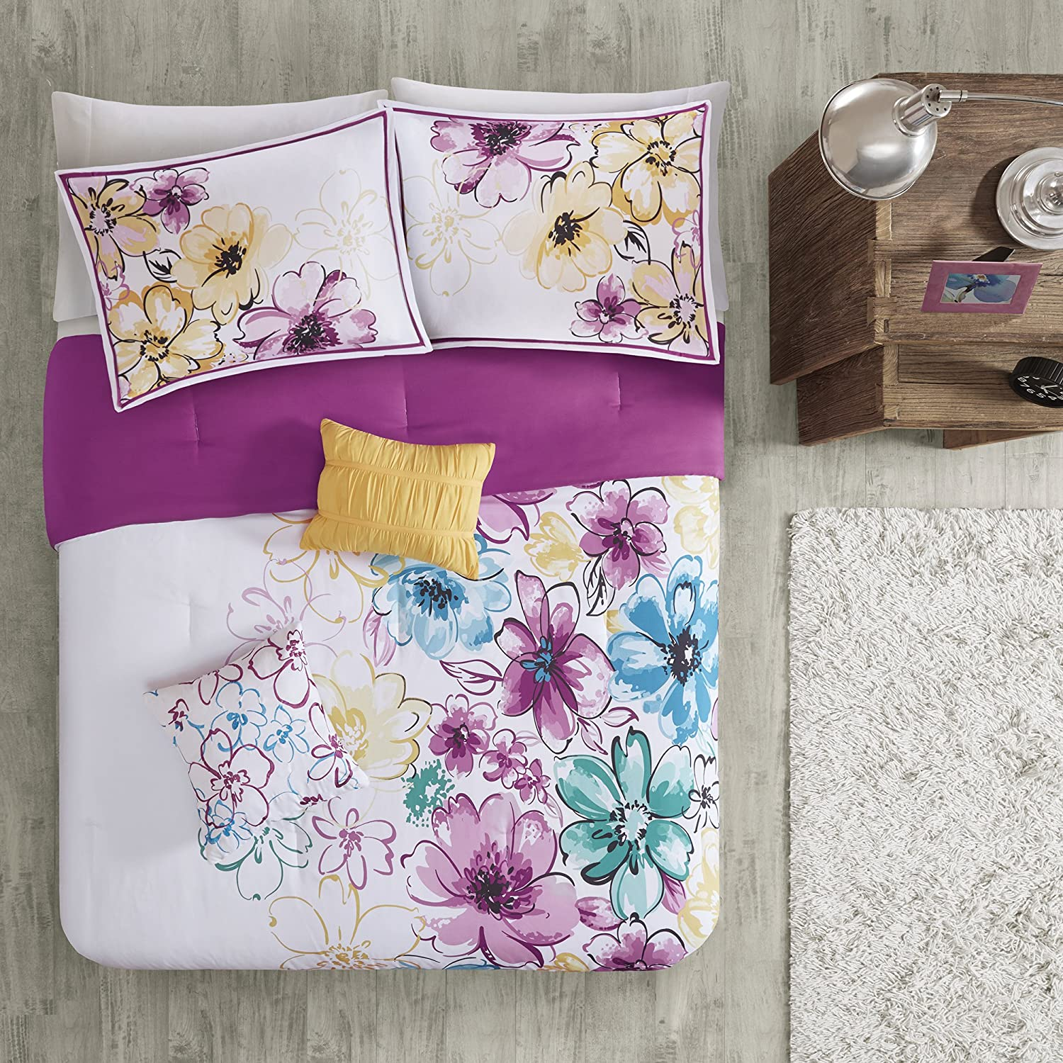 Intelligent Design Olivia Comforter Set Twintwin Xl Size Purple