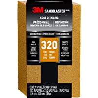 3M SandBlaster Dual Angle Sanding Sponge, 320-Grit, 4 1/2 in. by 2 1/2 in. (Packaging May Vary)