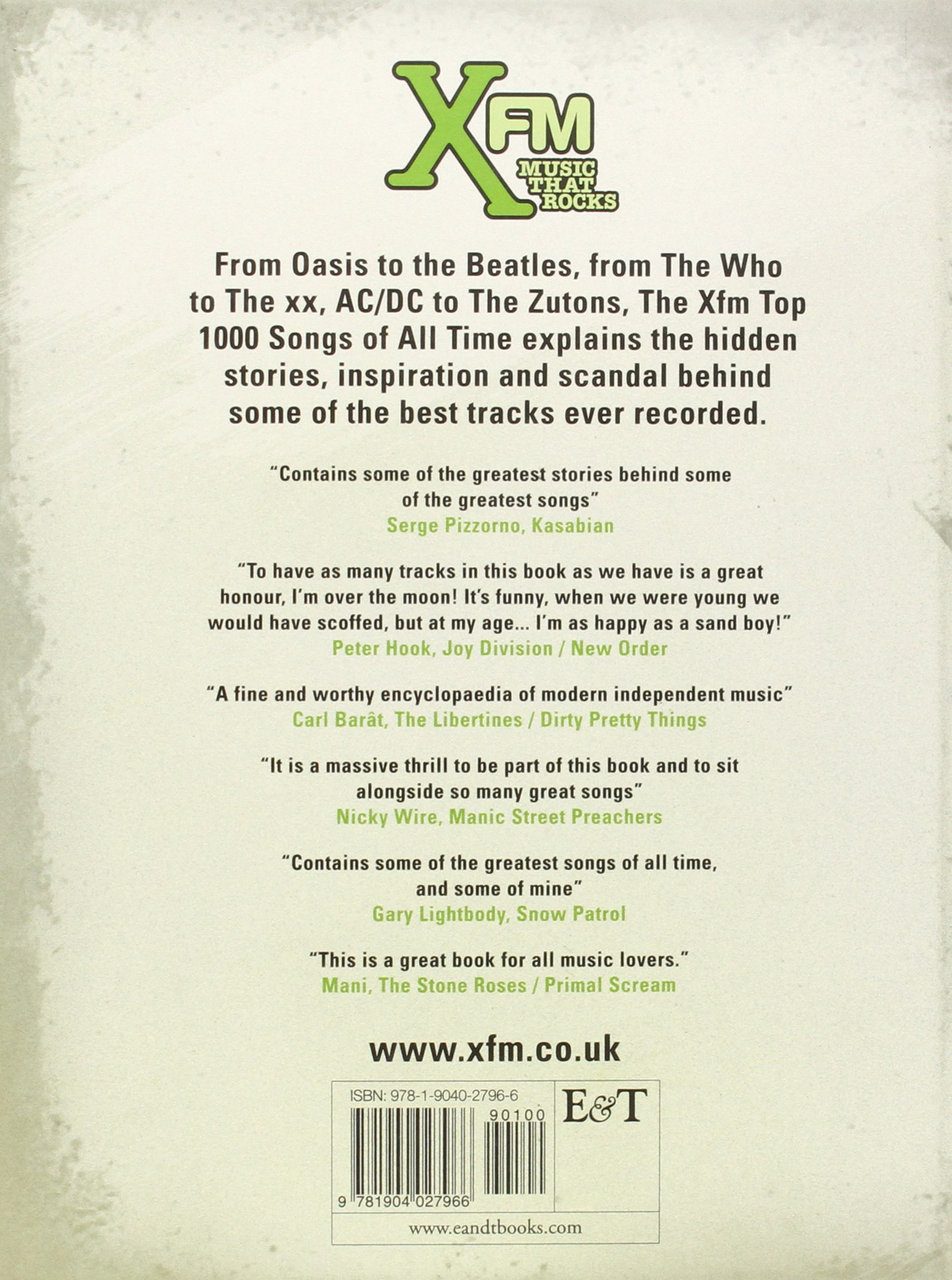 The Xfm Top 1000 Songs of All Time: Amazon co uk: Xfm: 9781904027966