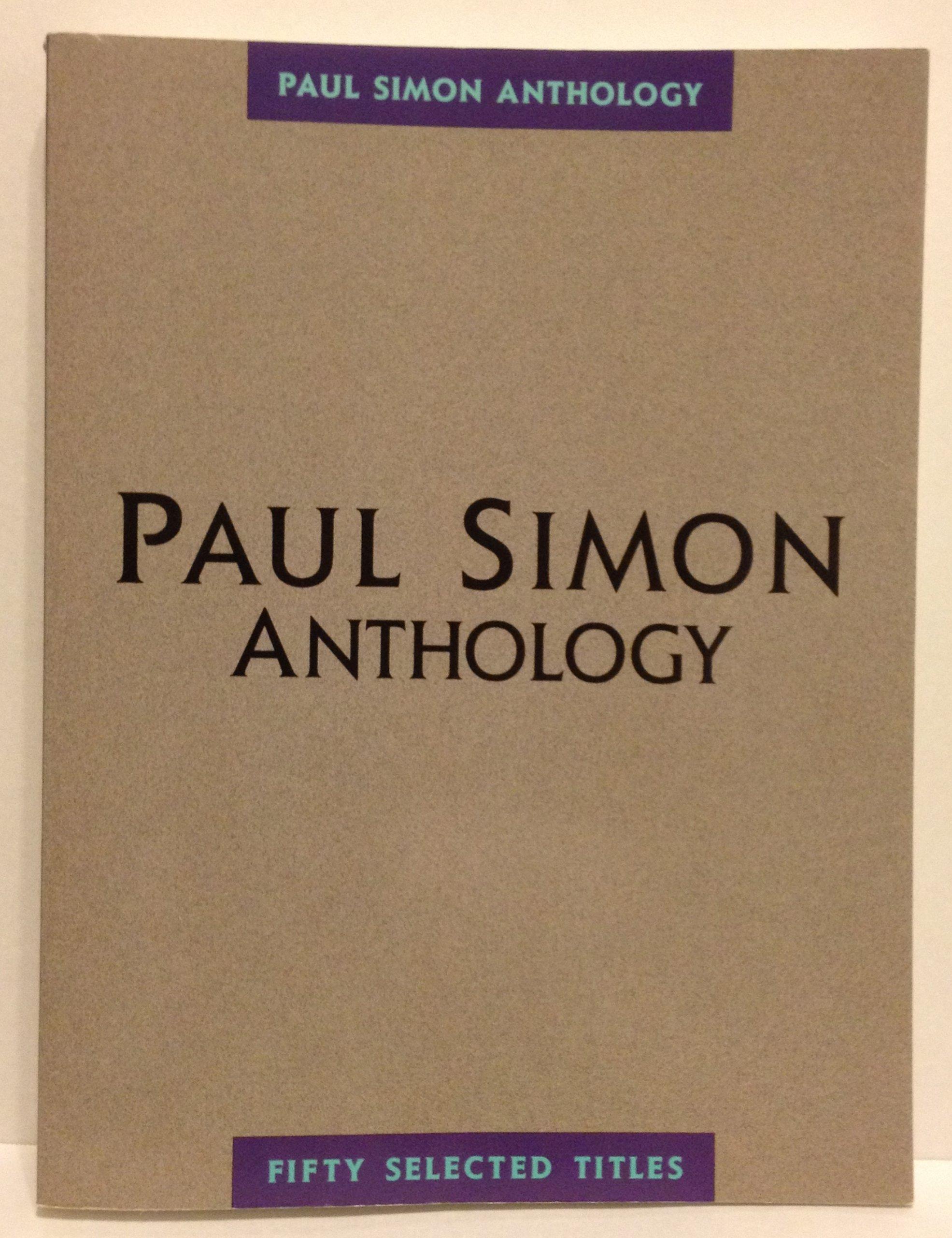 Paul Simon Anthology Amsco Publications Compiled By Amazon