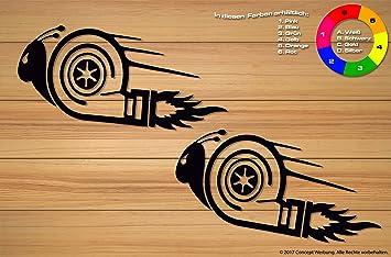 2 pieza adhesivos Turbo caracol Auto | Moto | Muebles | 15 ...