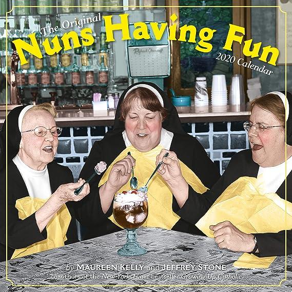"""Nuns Having Fun Wall Calendar 2020 [12"""" x 12"""" Inches]"""