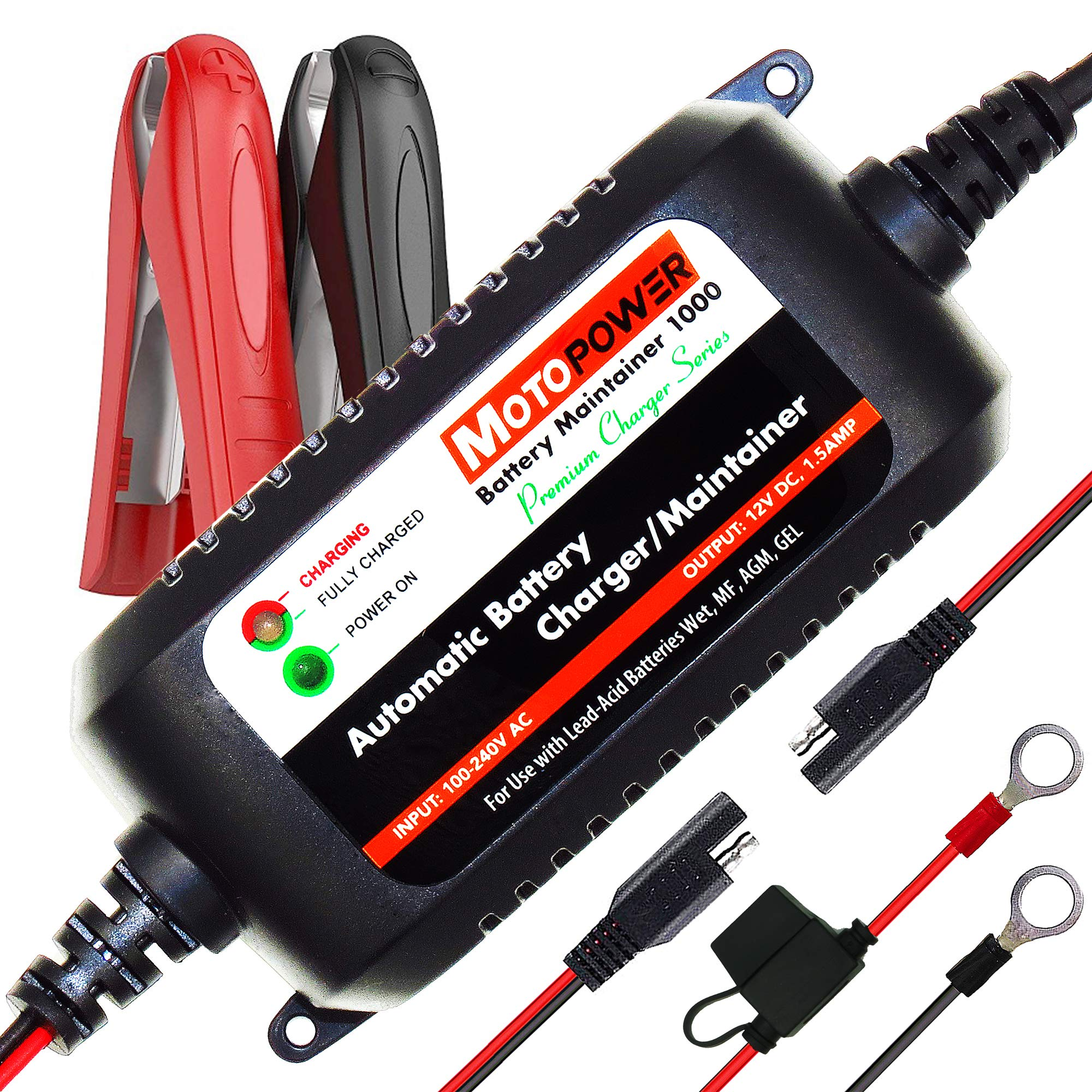 Toys Power Tool Lawn /& Garden Battery Systems Boat /& Marine Motorcycle TOPAC 12 Volt 1.25A Automatic Car Battery Charger and Maintainer for Automotive RV