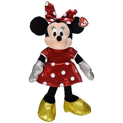 Ty Beanie Buddies Minnie Red Sparkle Medium Plush: Toys & Games